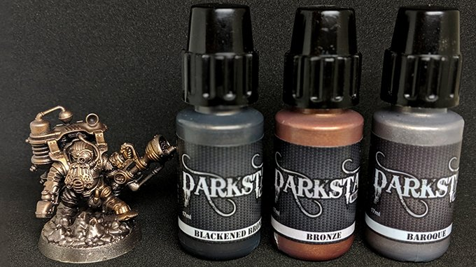 Darkstar Molten Metals Review - Thundriks Profiteers - Drybrush Bronze Colours