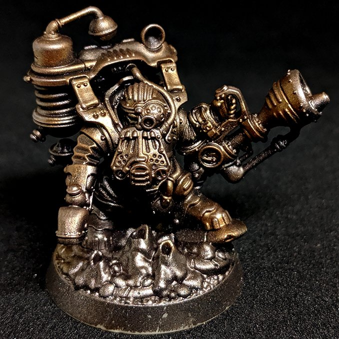 Darkstar Molten Metals Review - Thundriks Profiteure - Drybrush Bronze