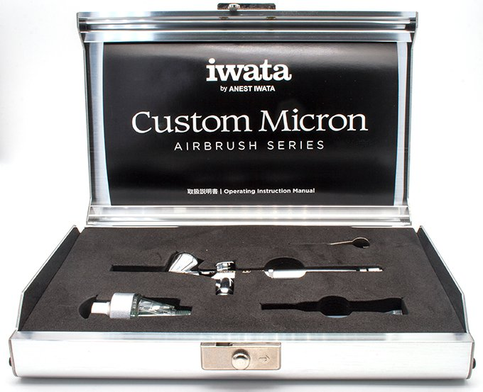 Iwata Custom Micron CM-B Airbrush Review for Miniature & Models - Unboxing - Case Open