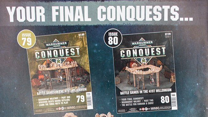 Warhammer Conquest Issues 79 & 80 Contents Fonctions confirmées