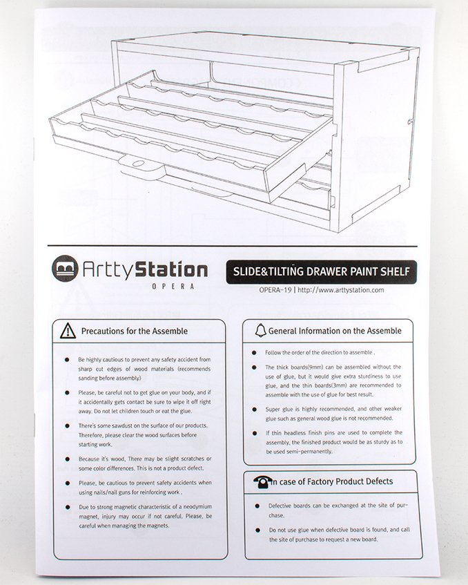ArttyStation Opera Review for Miniature Painters - Instruction Booklet 1