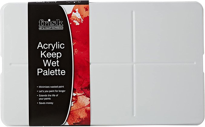 Best Wet-Palette for Painting Miniatures and Wargames Models - Frisk Acrylic Keep Wet Palette