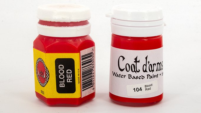 Manteau d'arms Review for Miniatures & Wargames Models - Blood Red vs Blood Red 1