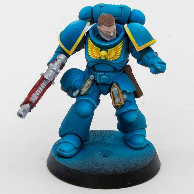 Creature Caster Pro Acryl Reveiew para miniaturas y modelos - Space Marine Base Coats