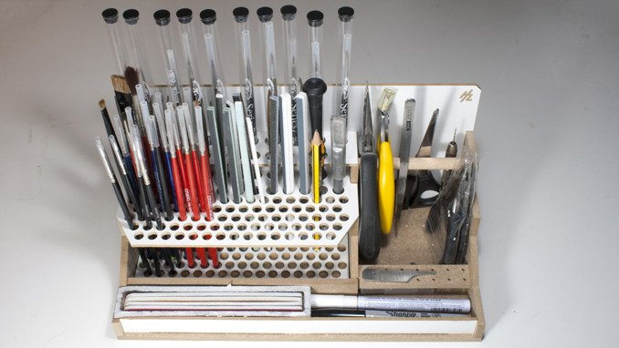 HobbyZone Modular Workshop - HZ-OM07a - Brushes & Tools Module
