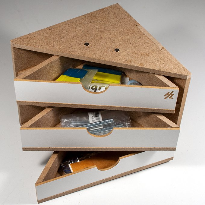 HobbyZone Modular Workshop - HZ-OM11 - Ending Corner Drawers Module