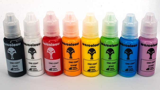 Warcolours Paint Range Review for Miniatures & Wargames Models - Highly Opaque - One Coat