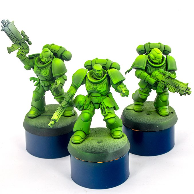 Warcolours Paint Range Review für Miniaturen und Wargames-Modelle - Space Marine 2 - Green 3 - Semi-Opaque