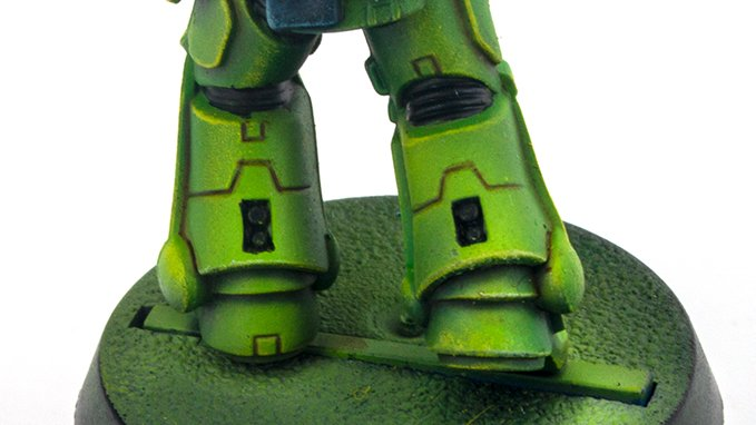 Warcolours Paint Range Review für Miniaturen und Wargames-Modelle - Space Marine 6a - Flesh Shade