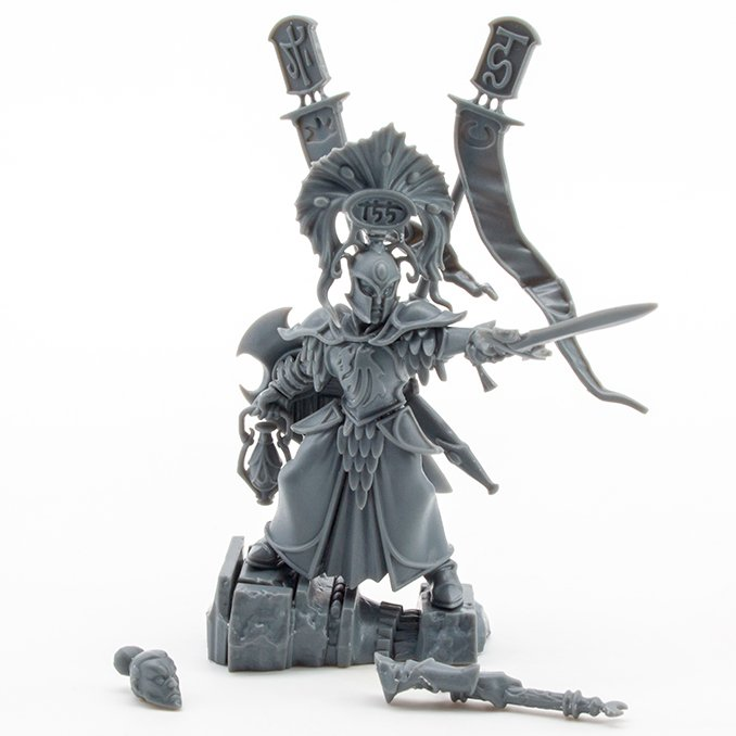 Lumineth Realm-lords Army Set Review for Miniature Painters - Vanari Auralan Warden - Complete