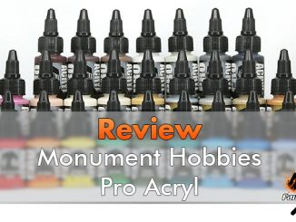 Monument Hobbies Pro Acryl Reveiew per miniature e modelli - In primo piano