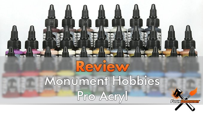 Monument Hobbies Pro Acryl Reveiew for Miniatures & Models - Featured
