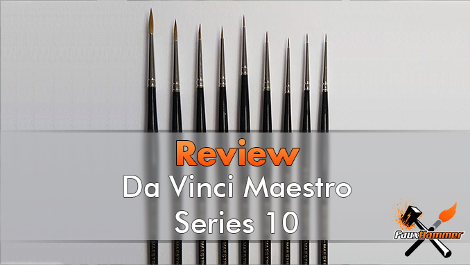DaVinci Maestro Series 10 Review for Miniature Painters - Featured