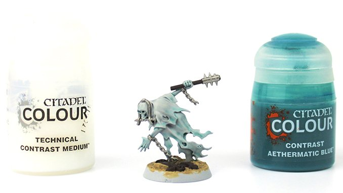 How to Paint Nighthaunt Chainrasps - 4 Chainrasp Blue Glaze