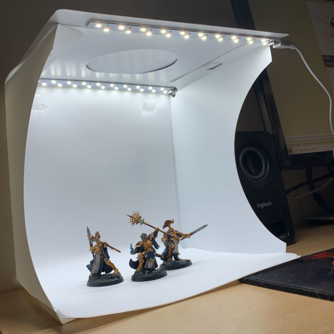 Miniature LED Portable Photo Studio Desktop Setup 4
