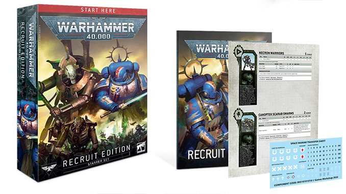 Warhammer 40,000 40K Starter Sets - Recruit Edition Box
