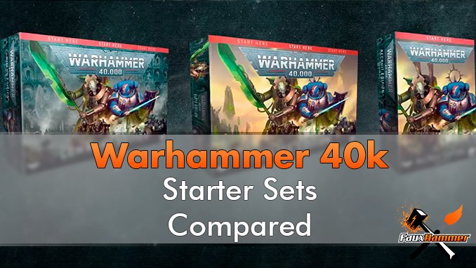 Warhammer 40.000 40K Starter Sets - Recruit Edition Vorgestellt