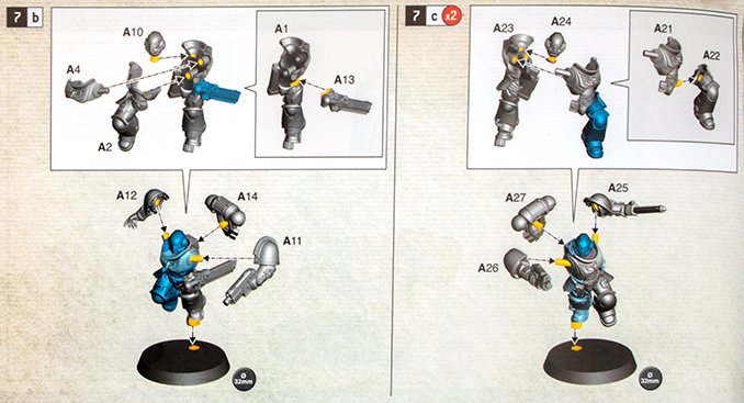 Warhammer 40.000 Indomitus 40K - Assault Interccessor Squad Leader als Marine