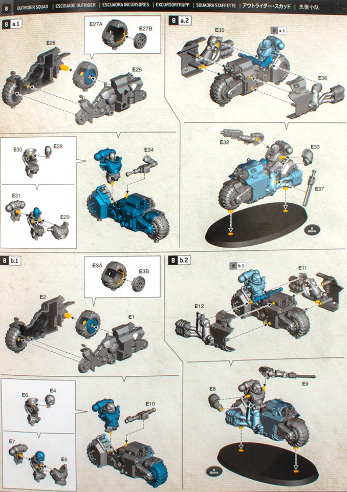 Warhammer 40,000 Indomitus 40K - Outrider Build Instructions