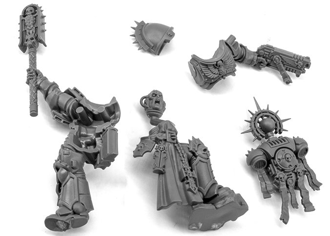Warhammer 40.000 Indomitus 40K - Primaris Chaplain Parts