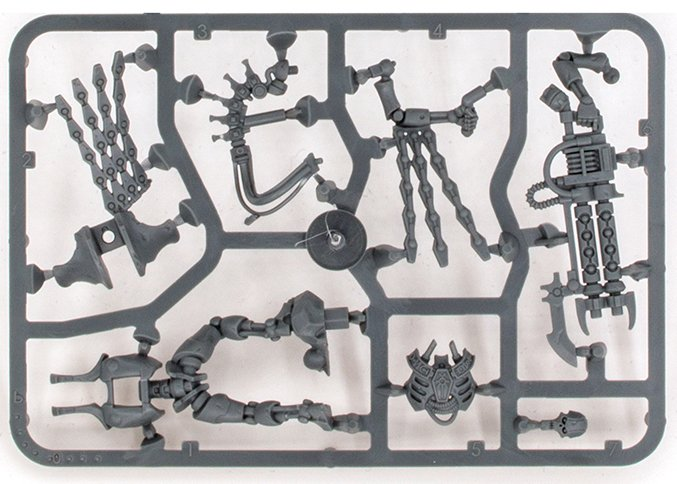 Warhammer 40.000 Indomitus Review 40K - Sprue C - Necron Royal Warden