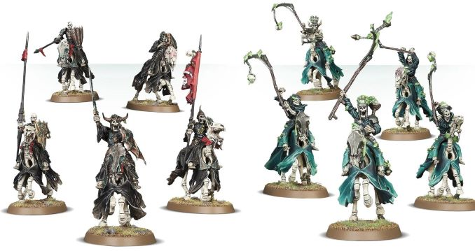 Start Collecting Skeleton Horde Reviwe Black Knights and Hexwraiths Comparison