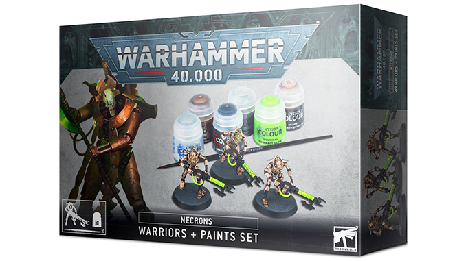Warhammer 40,000 40K Starter Sets - Necron Warriors Paint Set