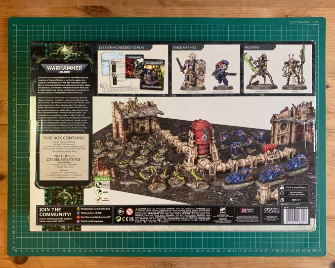 Warhammer 40,000 Starter Set: Command Edition Review Box al revés