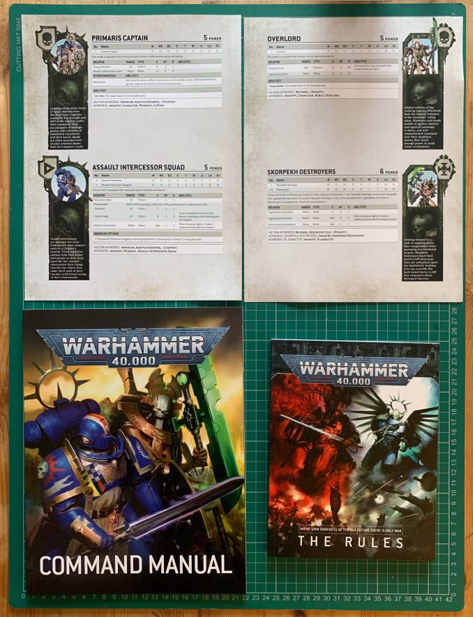 Warhammer 40,000 Starter Set: Documentation sur la revue Command Edition