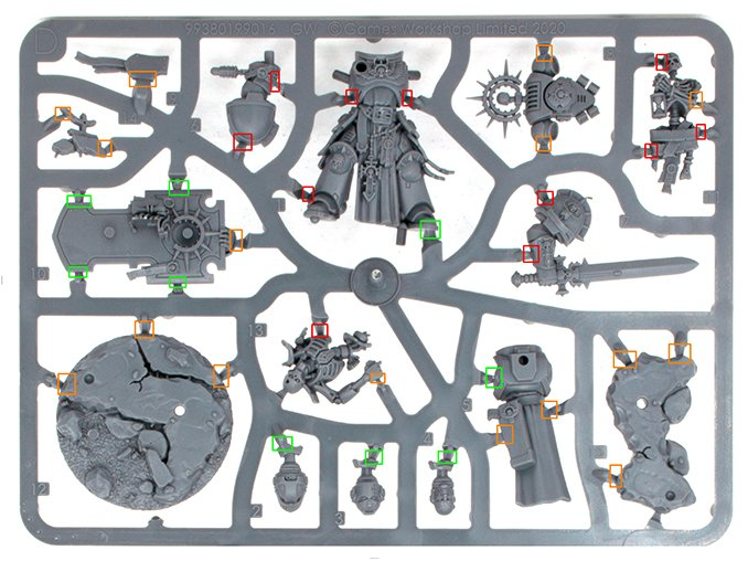 Warhammer 40,000 Starter Set: Command Edition Revisión Sprue C 1