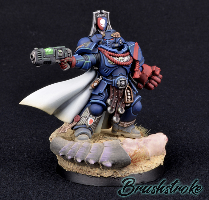 Brushstroke - Ask The Artists - Brushstroke - Crimson Fists Captain