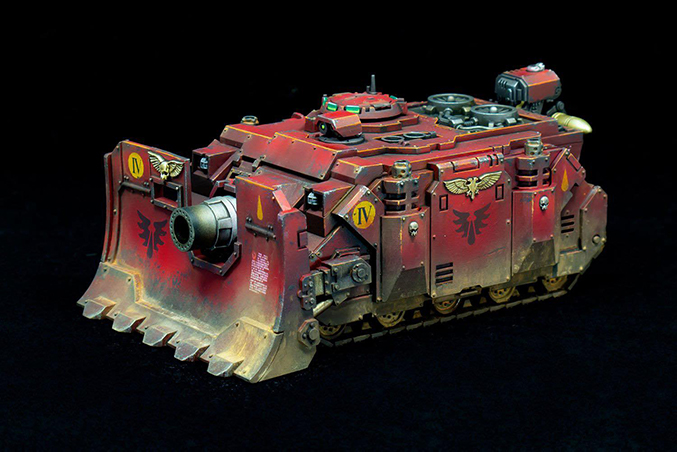 Luther Davies - The Mighty Brush - Demandez à l'artiste - Blood Angels Tank