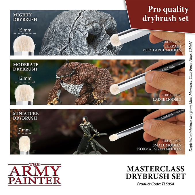Die Army Painter Masterclass Dry Brush Größentabelle