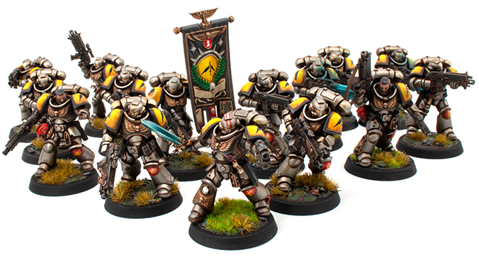 How to Paint Silver Templars Squads I, II & III White