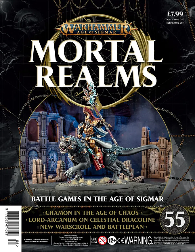 Mortal Realms Contents Issue 55 - Lord-Arcanum on Celestial Dracoline