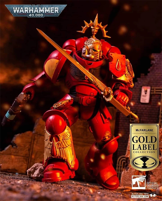 Warhammer 40k McFarlane Toys Série 2 - Lieutenant Blood Angel Label Or