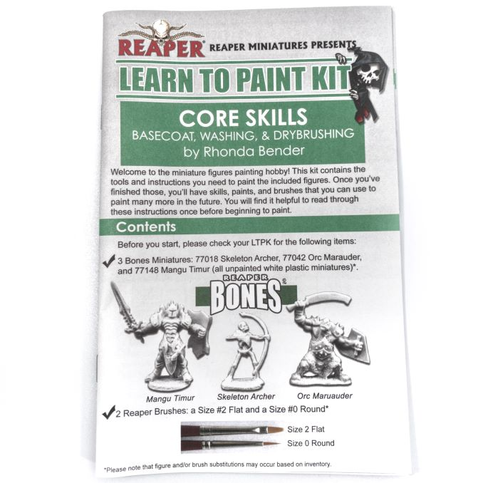 Reaper Miniatures Core Skills Set Booklet