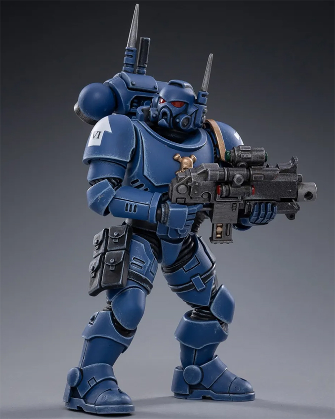Joy Toy 4 pouces Warhammer Space Marine Figurines - Infiltrator Brother Pullo
