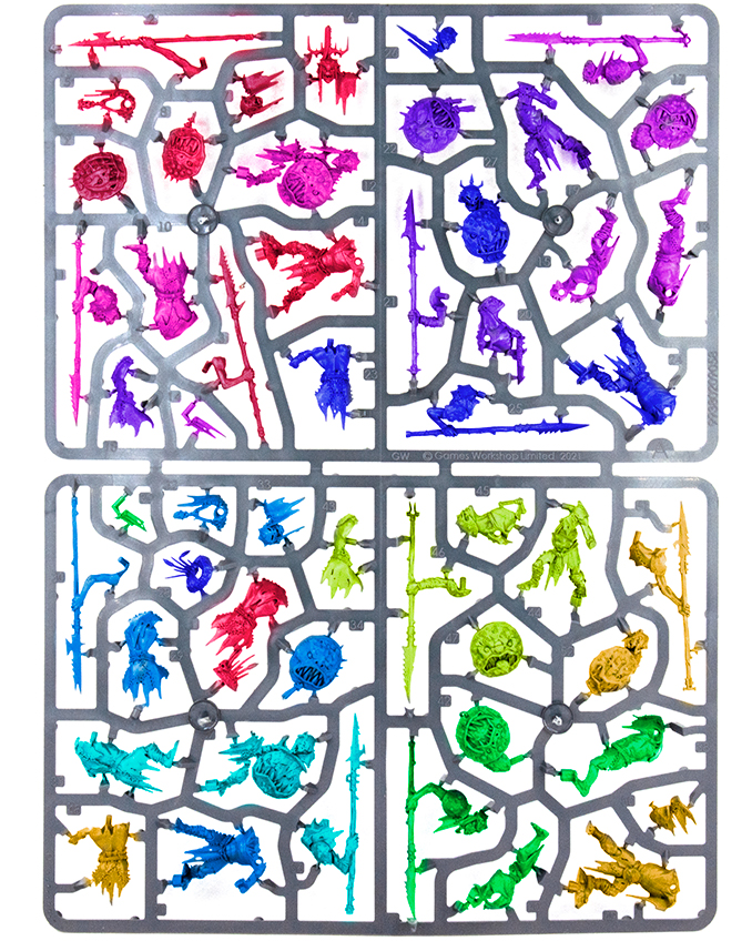 Warhammer Age of Sigmar Dominion Review - Sprue A Colored