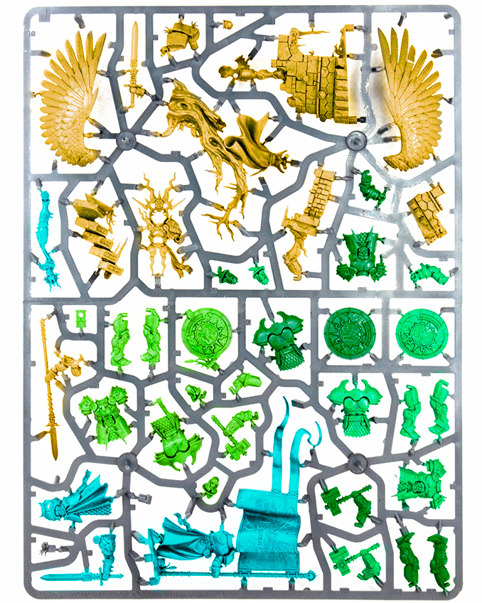 Warhammer Age of Sigmar Dominion Review - Sprue J Colored
