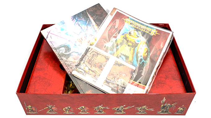 Warhammer Age of Sigmar Dominion Review – Unboxing – Box – Bücher im Layout