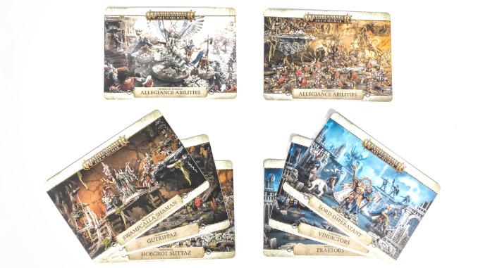 Warhammer Age of Sigmar Extremis Starter Set Cards