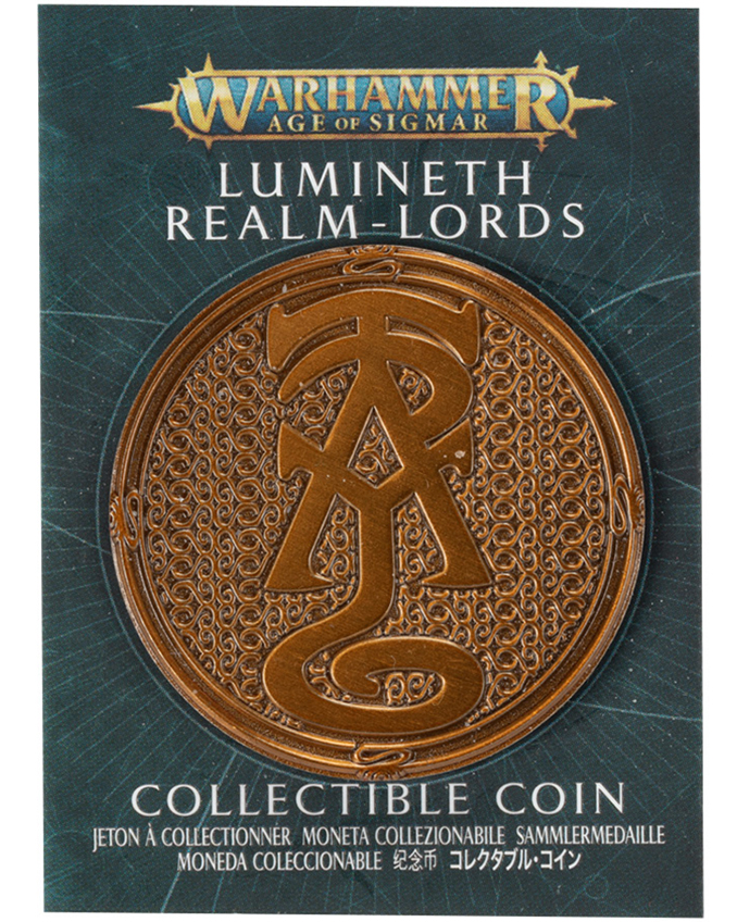 Warhammer Store Collector Coins March 2021 Collector Coin - Lumineth Realm-Lords