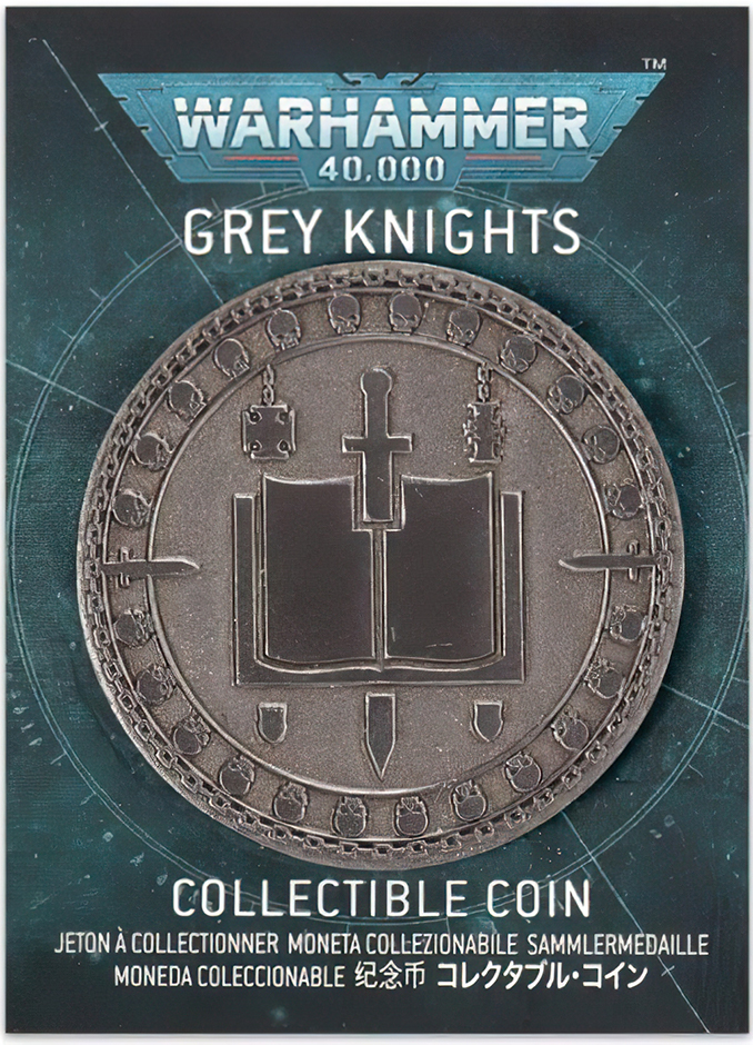 Warhammer Store Collector Coins August 2021 Collector Coin - Grey Knights