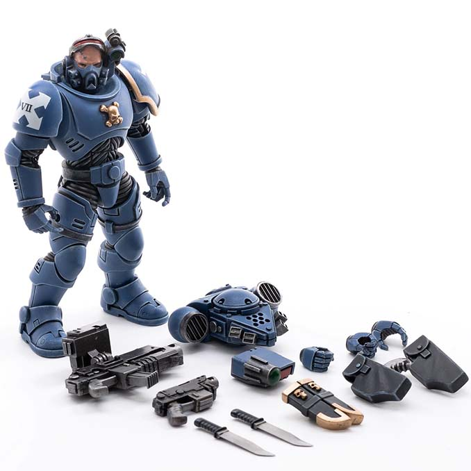 Joy Toy 4 pouces Warhammer Space Marine Figurines - Incursor Brother Remus Parts