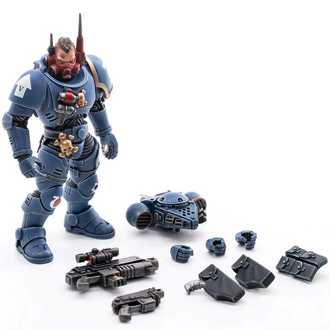 Joy Toy 4 pouces Warhammer Space Marine Figurines - Incursor Brother Seargeant Octavio Parts