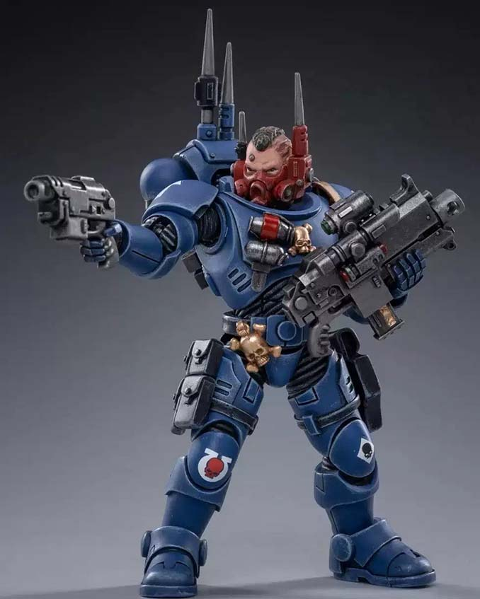 Joy Toy 4 pouces Warhammer Space Marine Figurines - Incursor Brother Seargeant Octavio