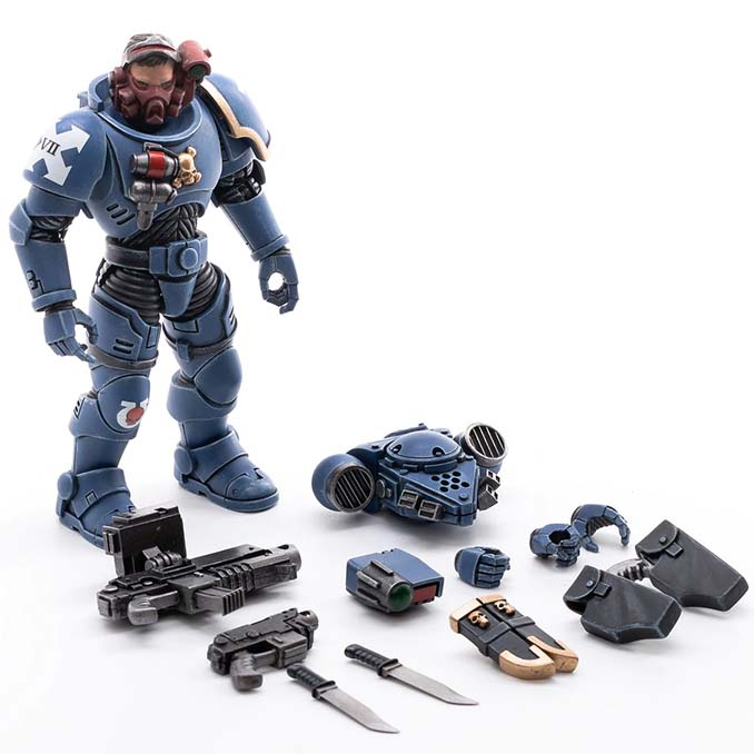 Joy Toy 4 pouces Warhammer Space Marine Figurines - Incursor Brother Seargeant Romulo Parts