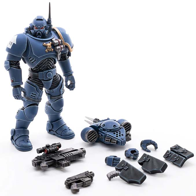 Joy Toy 4 pouces Warhammer Space Marine Figurines - Infiltrator Brother Cyrus Parts