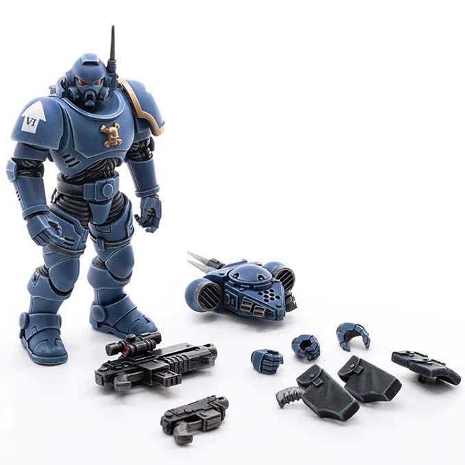 Joy Toy 4 pouces Warhammer Space Marine Figurines - Infiltrator Brother Pullo Parts